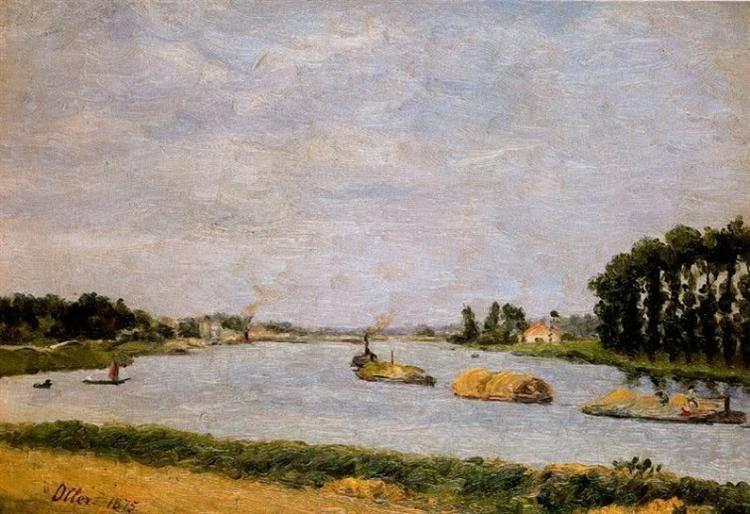 Barcos del Sena, 1875 - Francisco Oller