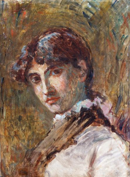 Portrait of a Lady, probably Doña Isabel Oller, the artist's sister - Francisco Oller