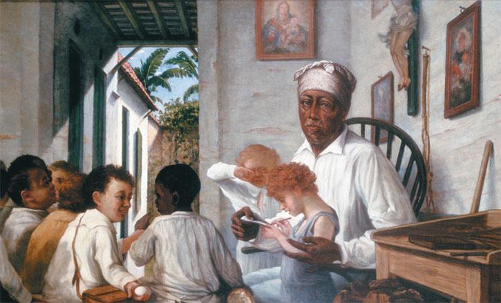 The School of the Teacher Rafael Cordero, 1892 - Francisco Oller