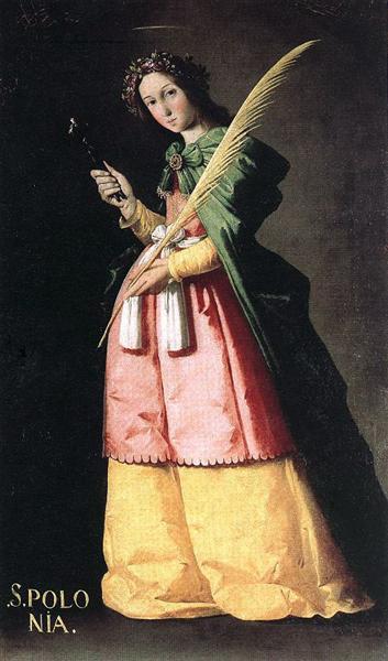St. Apollonia, 1636 - Francisco de Zurbaran