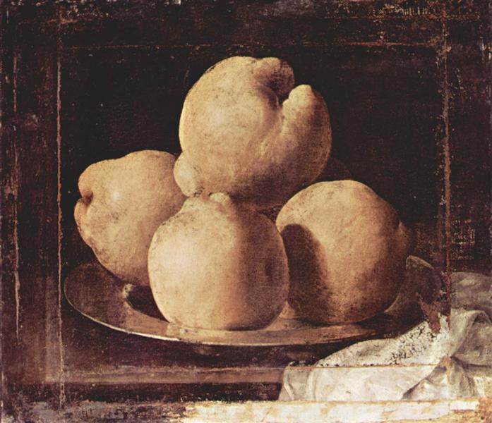 Still Life with Dish of Quince, 1633 - 1664 - Francisco de Zurbaran