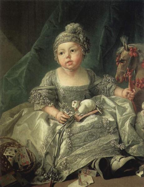 Portrait of Louis Philippe of Orléans, c.1750 - Francois Boucher