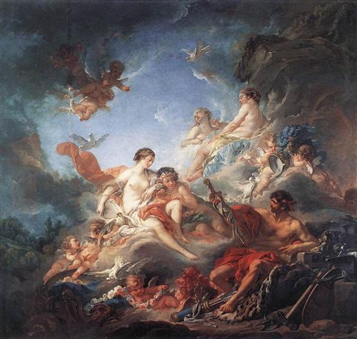 Vulcan Presenting Arms to Venus for Aeneas   - Francois Boucher