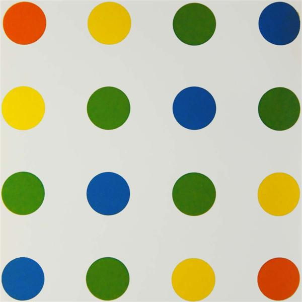 Bleu-Vert-Jaune-Orange, 1954 - Francois Morellet