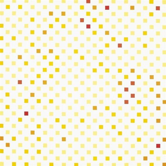 Répartition aléatoire du rouge au jaune suivant progression..., 1970 - Francois Morellet