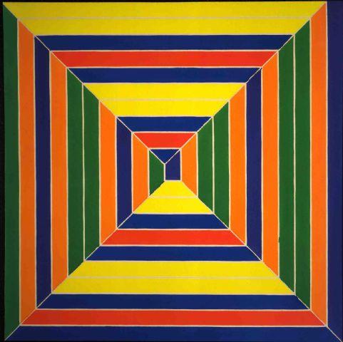 Color Maze, 1966 - Frank Stella