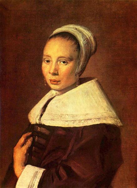 Portrait of a young woman, c.1655 - c.1660 - Франс Галс