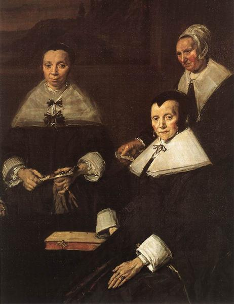 The Regentesses of the Old Men's Almhouse, Haarlem (detail), 1664 - Frans Hals