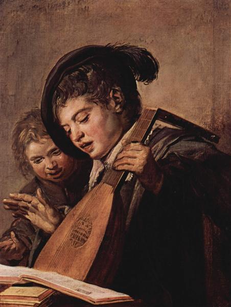 Deux Garçons jouant et chantant, c.1625 - Frans Hals