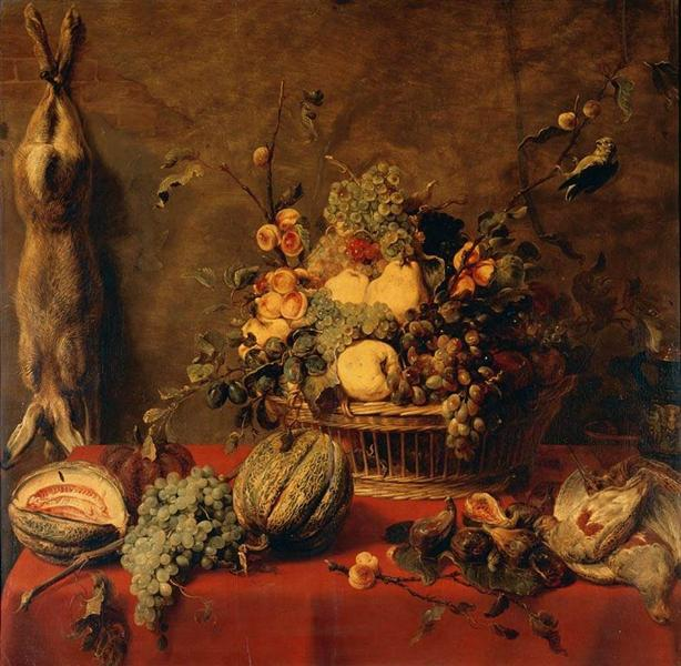 Still Life of Fruit in a Basket - Frans Snyders