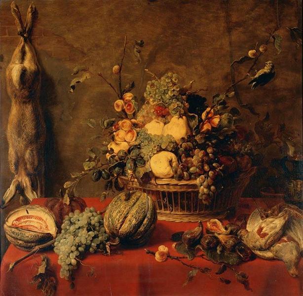 Still Life of Fruit in a Basket - Snyders Frans