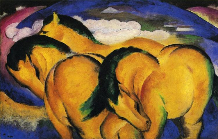 Little Yellow Horses, 1912 - Franz Marc
