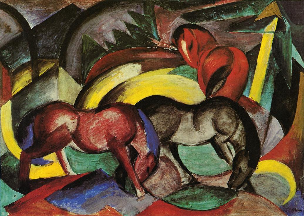 Three Horses, 1912 - Franz Marc - WikiArt.org