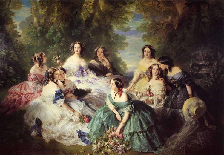 Empress Eugenie, Surrounded by her Ladies-in-Waiting, 1855 - Franz Xaver Winterhalter