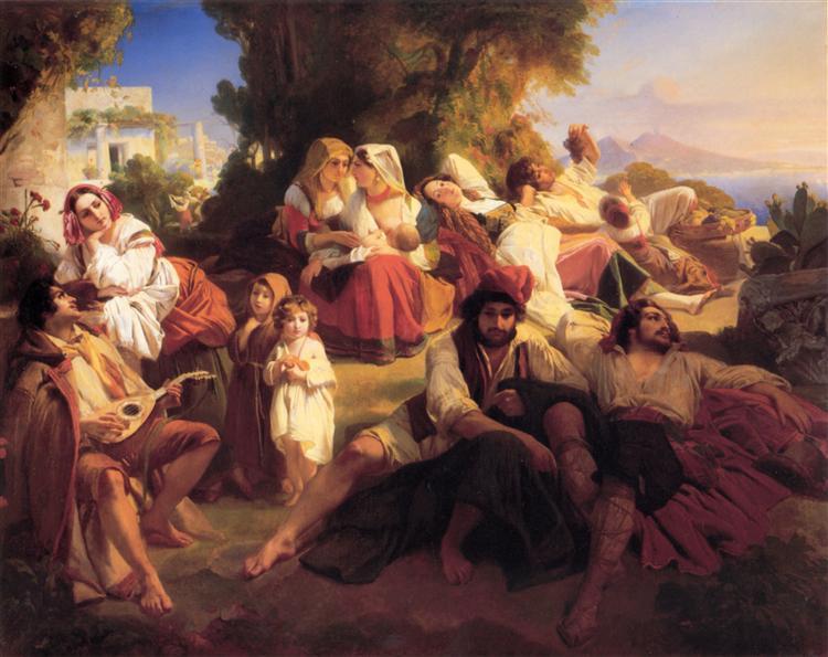 Il dolce Farniente, 1836 - Franz Xaver Winterhalter