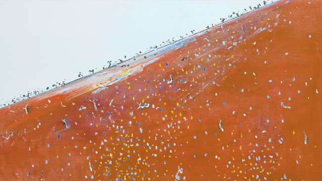 Iron Ore Landscape 1981 Fred Williams Wikiart Org