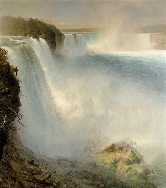 Niagara Falls, from the American Side, 1867 - Frederic Edwin Church