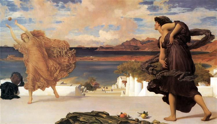 Greek Girls Playing at Ball - Frederic Leighton