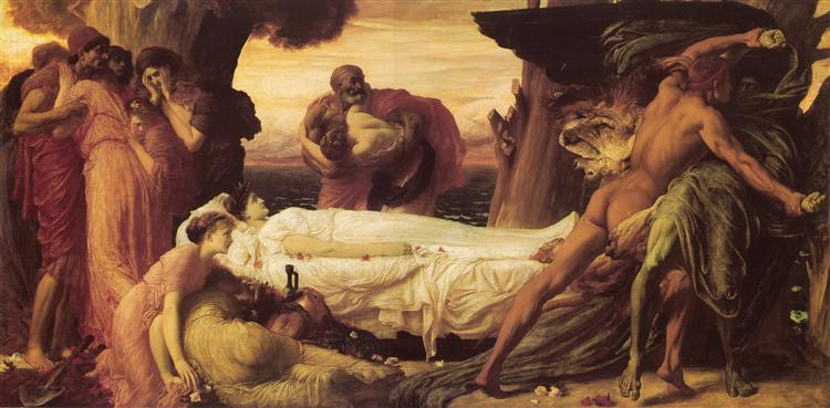 Hercules Wrestling with Death for the Body of Alcestis, c.1870 - Frederic Leighton