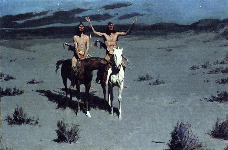 Pretty Mother of the Night—White Otter is No Longer a Boy - Frederic Remington