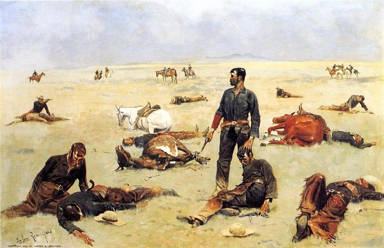 What an Unbranded Cow Has Cost, 1895 - Frederic Remington