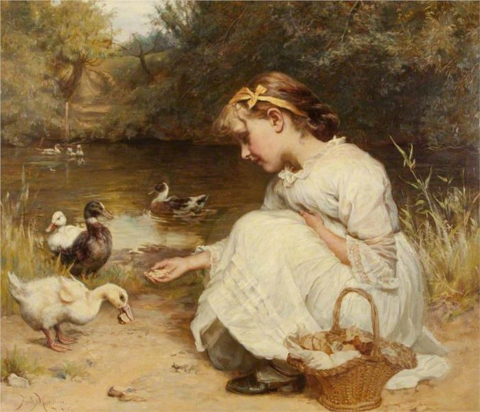 Making Friends, 1885 - Frederick Morgan