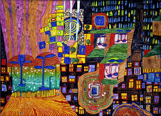 992 City View, 1994 - Friedensreich Hundertwasser