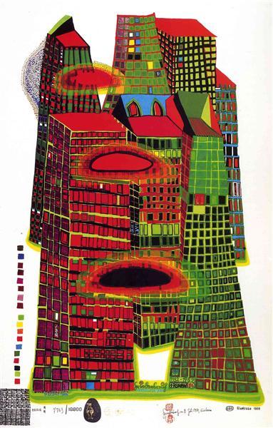 686 Good Morning City, 1969 - 1970 - Friedensreich Hundertwasser