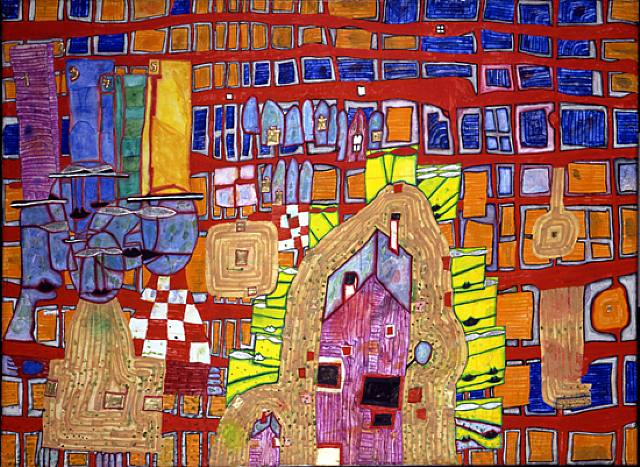 978 Rebellion of the Grid, 1996 - Friedensreich Hundertwasser