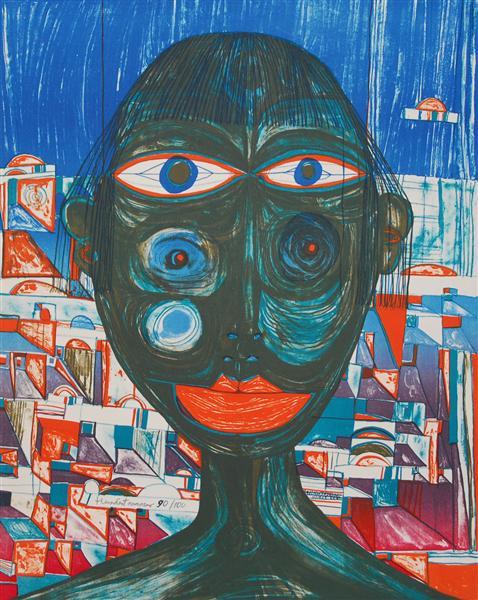 221 Arabian Woman, 1955 - Friedensreich Hundertwasser