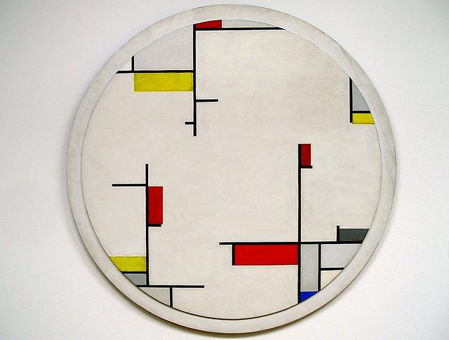 Relational Painting, Tondo #1, 1944 - Fritz Glarner
