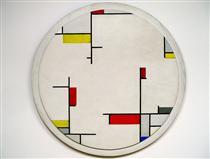 Relational Painting, Tondo #1 - Fritz Glarner