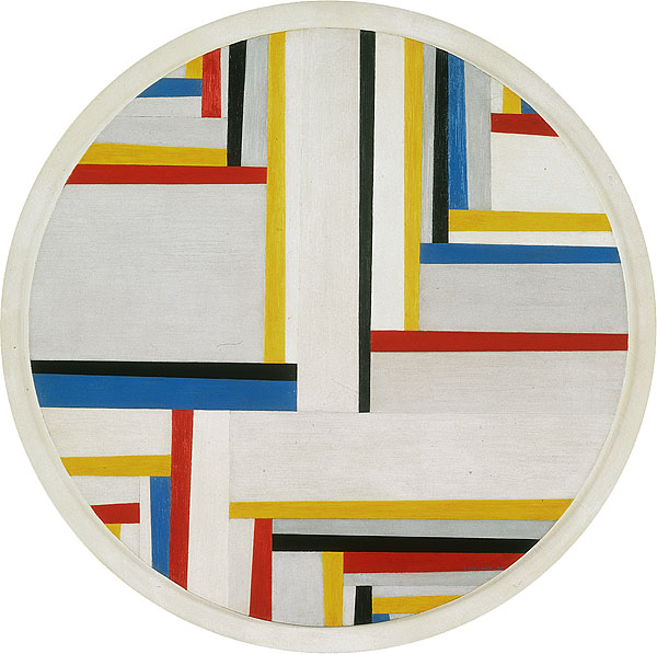 Relational painting, Tondo #4, 1946 - Фриц Гларнер