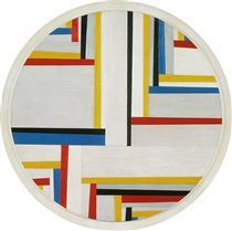 Relational painting, Tondo #4 - Fritz Glarner