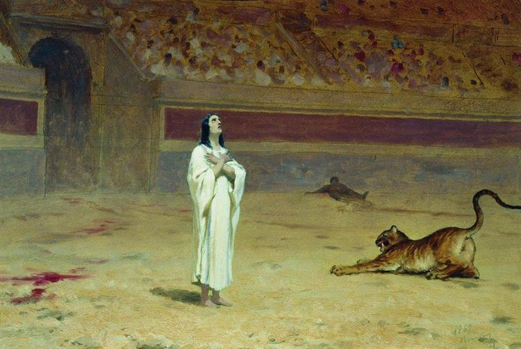 Martyr on a circus ring, 1869 - Fyodor Bronnikov