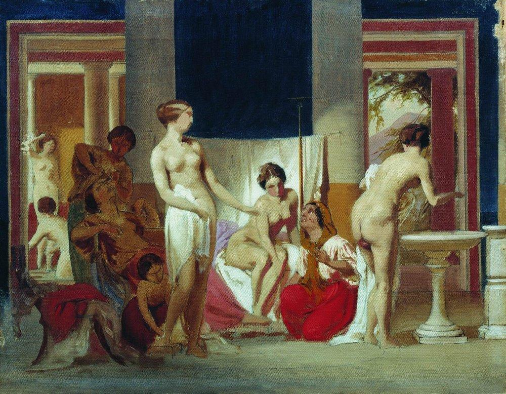 http://uploads7.wikipaintings.org/images/fyodor-bronnikov/private-baths-in-pompeii-1868.jpg