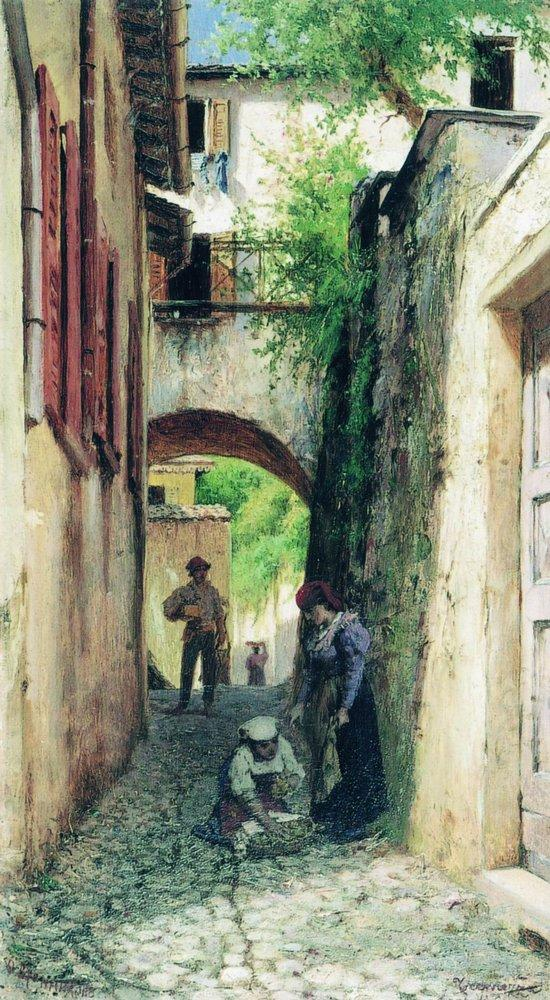 Street in Italy, 1890