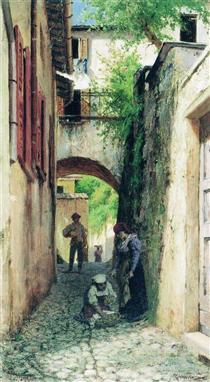 Street in Italy - Fyodor Bronnikov