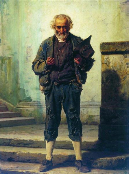 The old beggar, 1869 - Fyodor Bronnikov