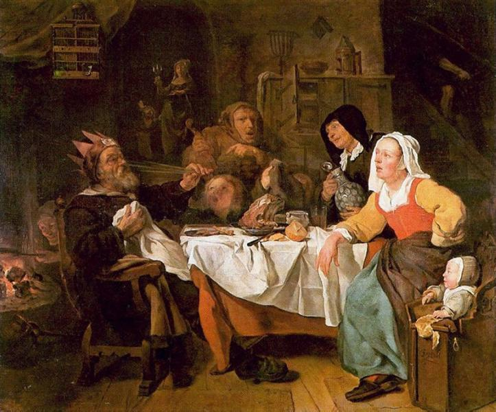The Feast of the Bean King, 1650 - 1655 - Gabriel Metsu