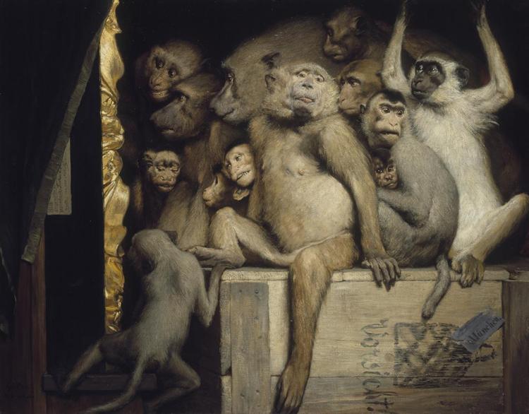 Monkeys as Judges of Art, 1889 - Gabriel von Max