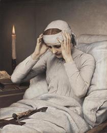 The Ecstatic Virgin Anna Katharina Emmerich - Gabriel von Max