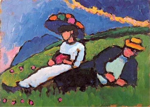 Jawlensky and Werefkin, 1908 - Gabriele Munter