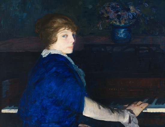 Emma at the Piano, 1914 - George Bellows