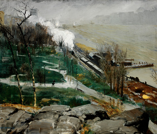 Rain on the River, 1908 - George Bellows