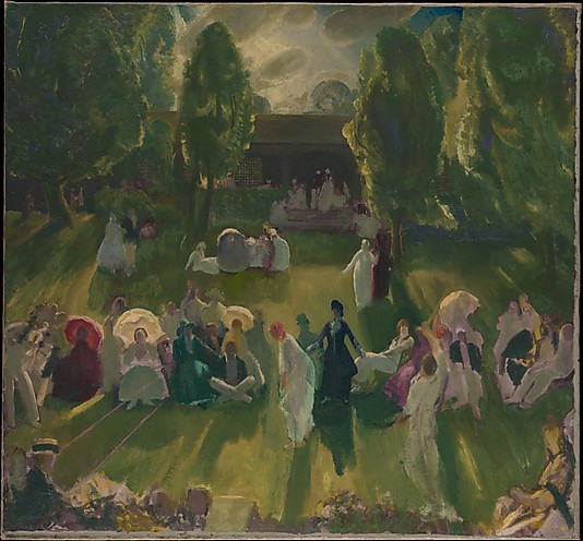 Tennis at Newport, 1919 - George Bellows