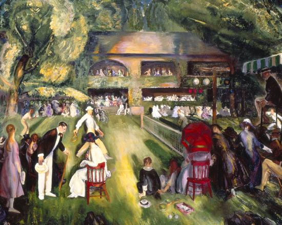 Tennis at Newport, 1920 - George Bellows