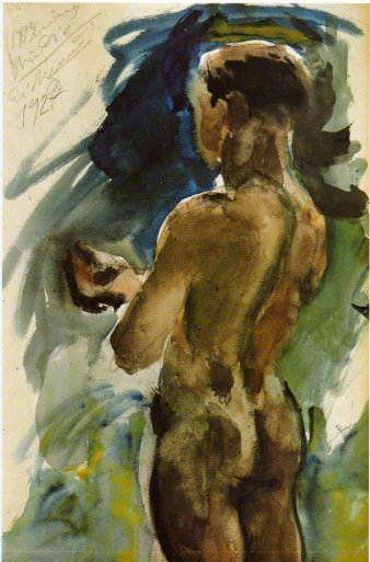 Boy outdoors, 1927 - George Bouzianis