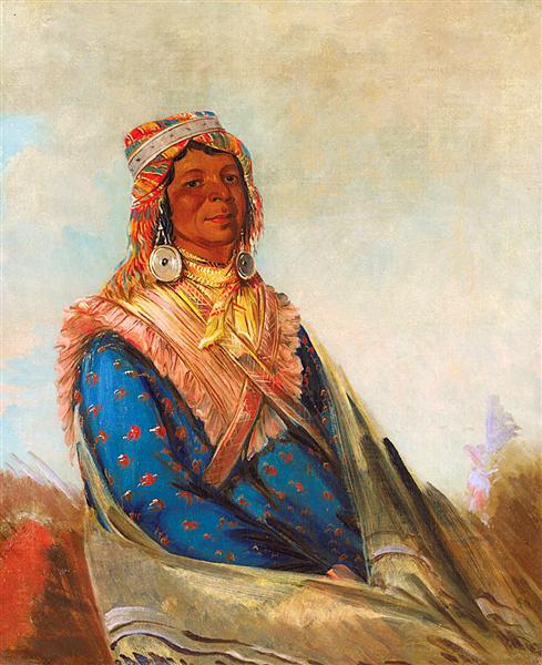 Hól-te-mál-te-téz-te-néek-ee, Sam Perryman (Creek Chief), 1834 - George Catlin