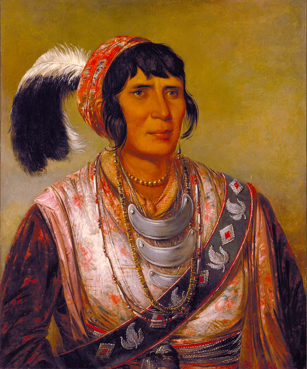 Osceola, Head Chief, Seminole - George Catlin - WikiArt ...